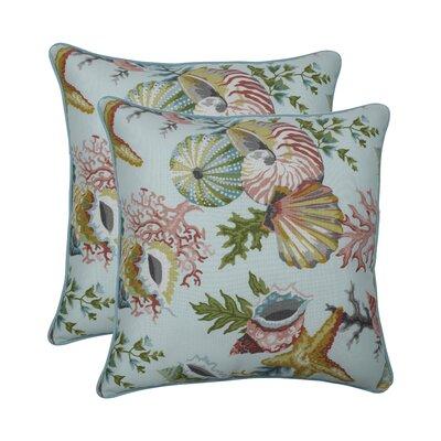 Magdeline Seamist Indoor/Outdoor Throw Pillow