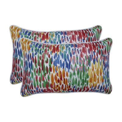 Grayer Make It Rain Zinnia Indoor/Outdoor Lumbar Pillow