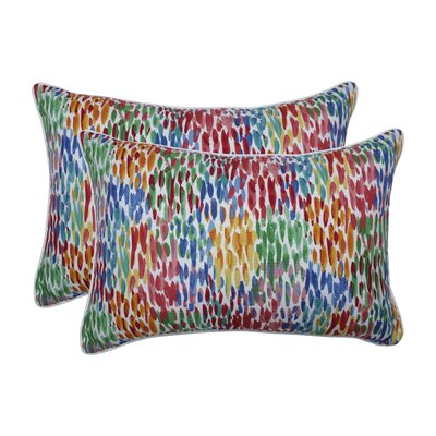 Graziani Make It Rain Zinnia Indoor/Outdoor Lumbar Pillow