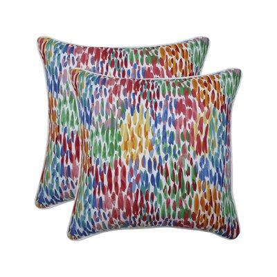 Greaney Make It Rain Zinnia Indoor/Outdoor Throw Pillow