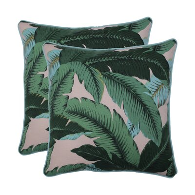 Rockmeade Swaying Palms Indoor/Outdoor Throw Pillow