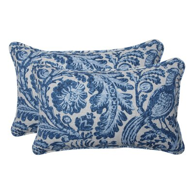 Leigh Woods Tucker Resist Azure Indoor/Outdoor Lumbar Pillow