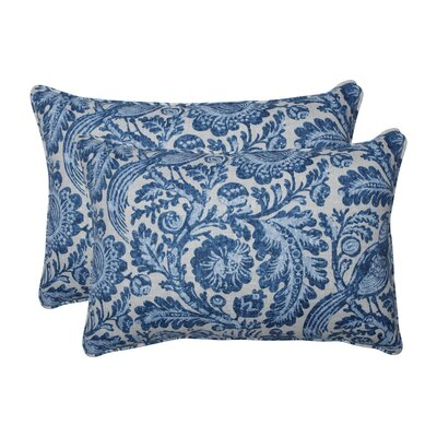 Leighty Tucker Resist Azure Indoor/Outdoor Lumbar Pillow