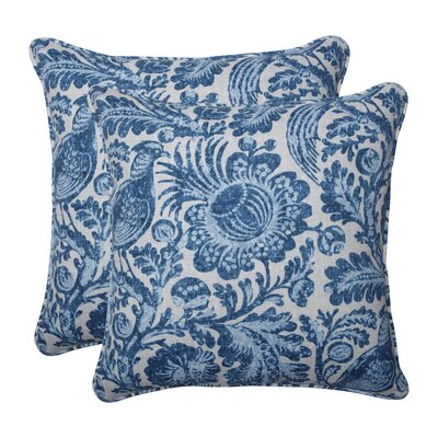 Leiker Tucker Resist Azure Indoor/Outdoor Throw Pillow