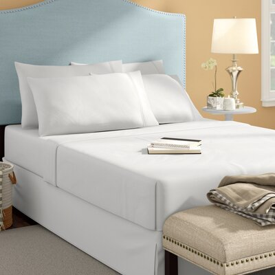 Langleyville Nanotex Cool Comfort Sheet Set Size: Queen, Color: White