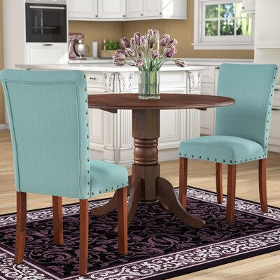 Keyesport Parsons Chair Upholstery: Blue