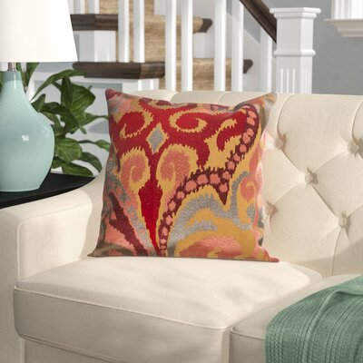 Claysburg Throw Pillow Cover Size: 18 H x 18 W x 1 D, Color: BrownOrange