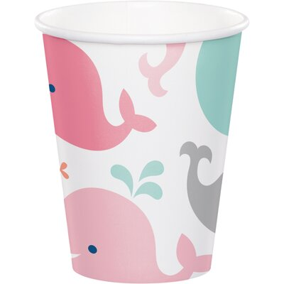 Blue Baby Whale 9 oz. Paper Everyday Cup DTC322201CUP