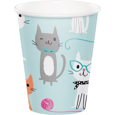 Cat 9 oz. Paper Party Cup DTC328591CUP