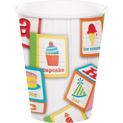 ABC Blocks Birthday 9 oz. Paper Everyday Cup DTC329336CUP