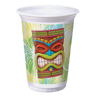 Tiki Time 16 oz. Plastic Everyday Cup DTC327323TUMB