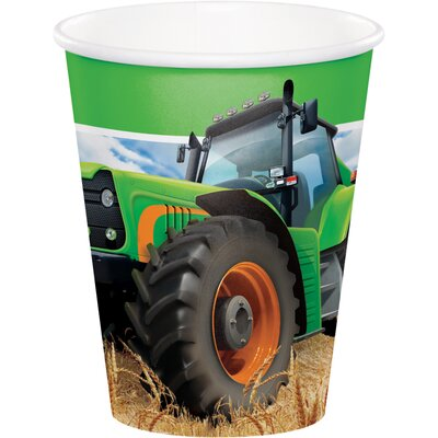 Tractor Time 9 oz. Paper Everyday Cup DTC318055CUP