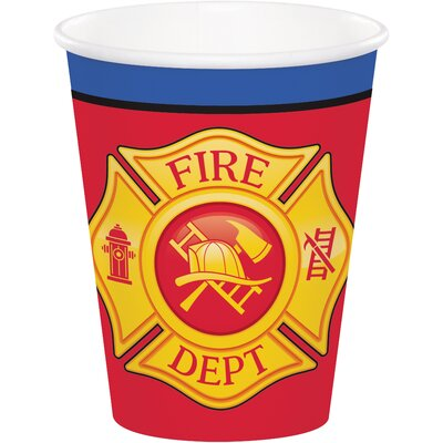 Fire Truck 9 oz. Paper Everyday Cup DTC331503CUP