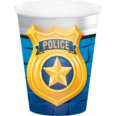 Police 9 oz. Paper Party Cup DTC329421CUP