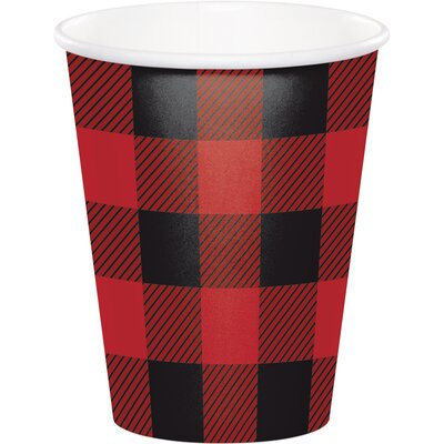 Buffalo Plaid 9 oz. Paper Everyday Cup DTC321827CUP