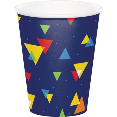 Geo-Pop Birthday 9 oz. Paper Everyday Cup DTC324632CUP
