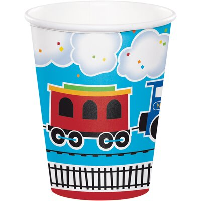 All Aboard Train 9 oz. Paper Everyday Cup DTC322216CUP