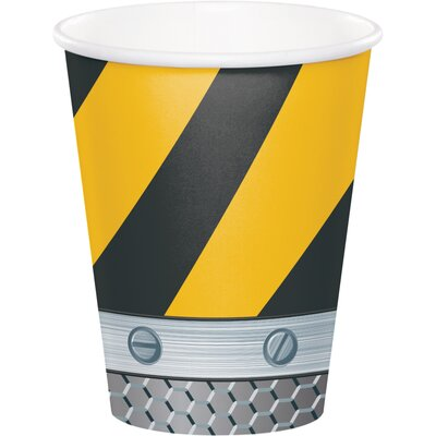 Birthday Zone Construction 9 oz. Paper Everyday Cup DTC375590CUP