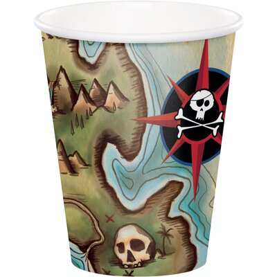Pirate's Map 9 oz. Paper Everyday Cup DTC375969CUP
