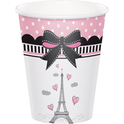 Party in Paris 9 oz. Paper Everyday Cup DTC375584CUP
