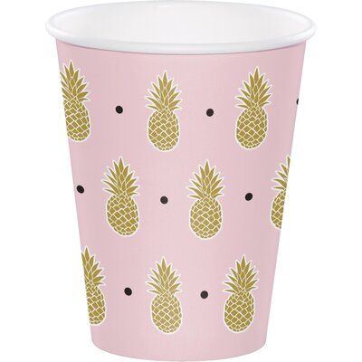 Pineapple 12 oz. Paper Everyday Cup DTC332540CUP