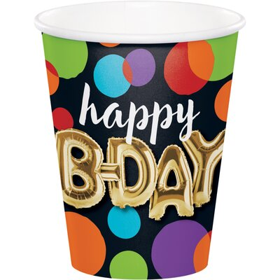 Balloon Birthday 9 oz. Paper Everyday Cup DTC332492CUP