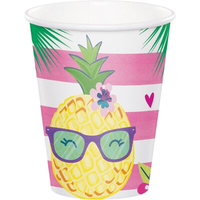 Pineapple 9 oz. Paper Party Cup DTC332425CUP