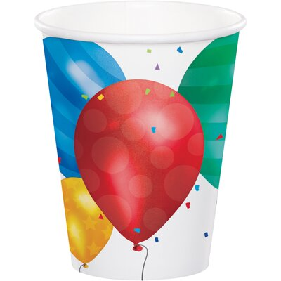 Balloon Blast 9 oz. Paper Everyday Cup DTC377800CUP