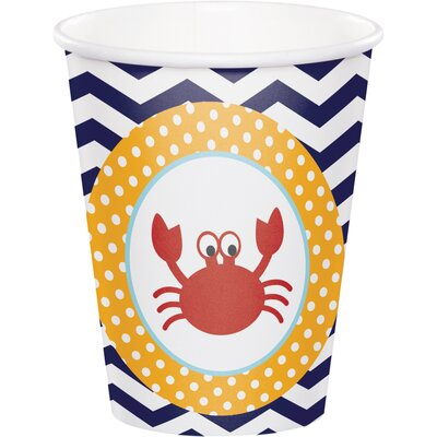 Ahoy Matey Nautical 9 oz. Paper Everyday Cup DTC377226CUP
