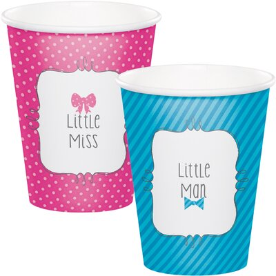 Bow or Bowtie Reveal 9 oz. Paper Everyday Cup DTC377041CUP