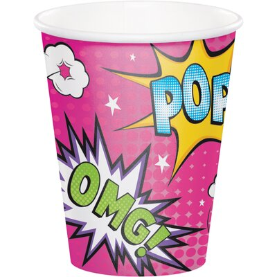 Superhero 9 oz. Paper Everyday Cup DTC332395CUP
