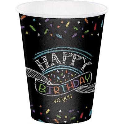 Chalk Birthday 12 oz. Paper Everyday Cup DTC375971CUP