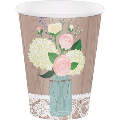 Rustic Wedding 12 oz. Paper Everyday Cup DTC378706CUP