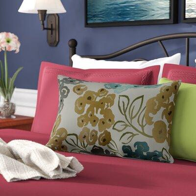 Malcolm 100% Cotton Lumbar Pillow Color: Pool