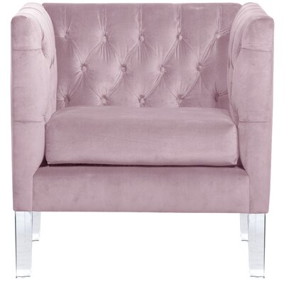 League Tufted Arm Chair Color: Sweet Lilac
