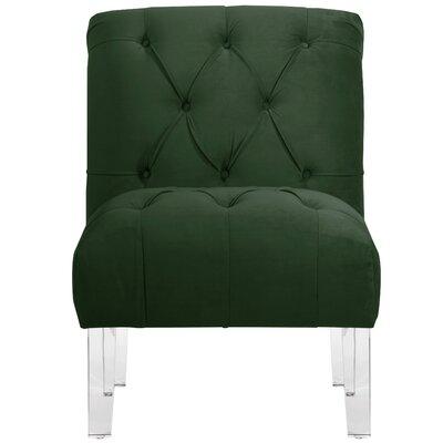 Hollon Tufted Armless Slipper Chair Color: Emerald