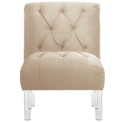 Hollon Tufted Armless Slipper Chair Color: Pearl
