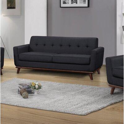 Teterboro Upholstered Sofa Upholstery: Charcoal