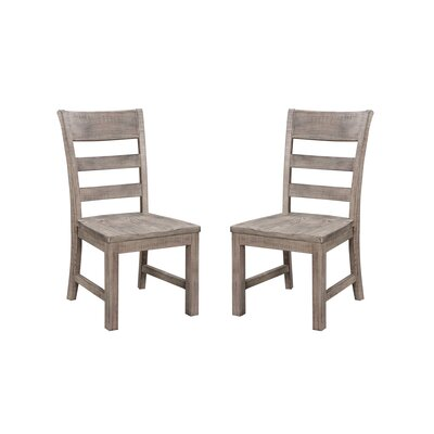 Hegg Solid Wood Dining Chair with Ladder Back