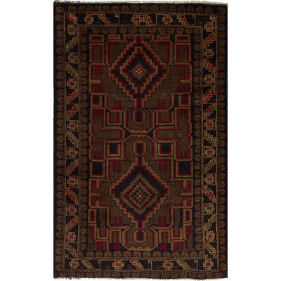 One-of-a-Kind Shaffer Hand-Knotted Wool Brown Area Rug