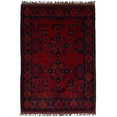 One-of-a-Kind Rosales Hand-Knotted Wool Red Area Rug