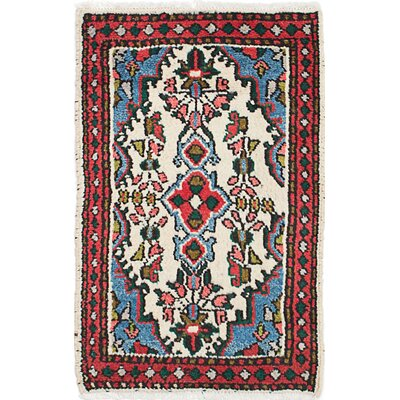 One-of-a-Kind Roth Hand-Knotted Wool Red/Blue Area Rug