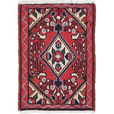 One-of-a-Kind Roth Hand-Knotted Wool Red Area Rug