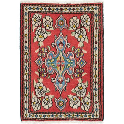 One-of-a-Kind Hamadan Hand-Knotted Wool Dark Copper Area Rug