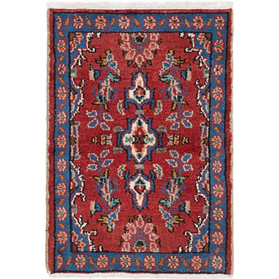 One-of-a-Kind Roth Hand-Knotted Wool Dark Red/Blue Area Rug