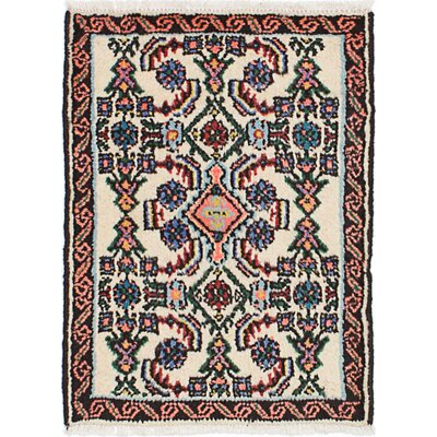 One-of-a-Kind Roth Hand-Knotted Wool Cream/Peach Area Rug