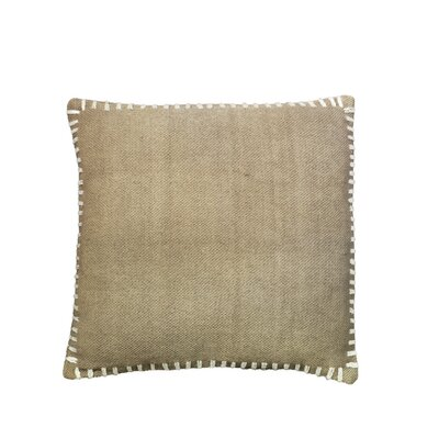 Anheuser Whip Stitched Throw Pillow Color: Beige
