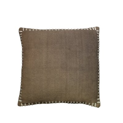 Anheuser Whip Stitched Throw Pillow Color: Dark Gray