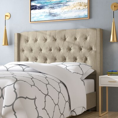 Davina Upholstered Panel Bed Size: California King, Color: Sandstone