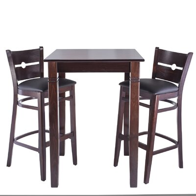 Gottesdiener 3 Piece Pub Table Set Finish: Walnut